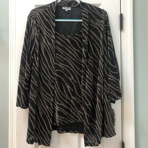 Sparkly Gold and Black Tunic